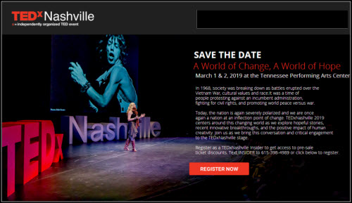 Tedx 2019 Nashville TN